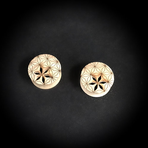Flower of Life Cut Out Plugs