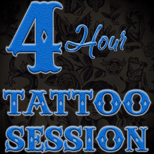4 Hour Tattoo Session