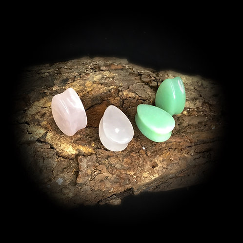 Teardrop Stone Plugs