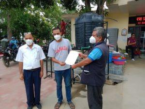Foot operated hand wash/ सिपिको गढवा गाउँपालिका कार्यालयलाई हात धुने उपकरण सहयोग