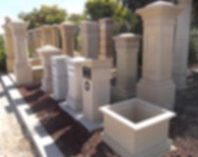 Sandstone letterboxes Adelaide