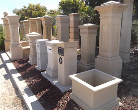 Sandstone letterboxes Adelaide