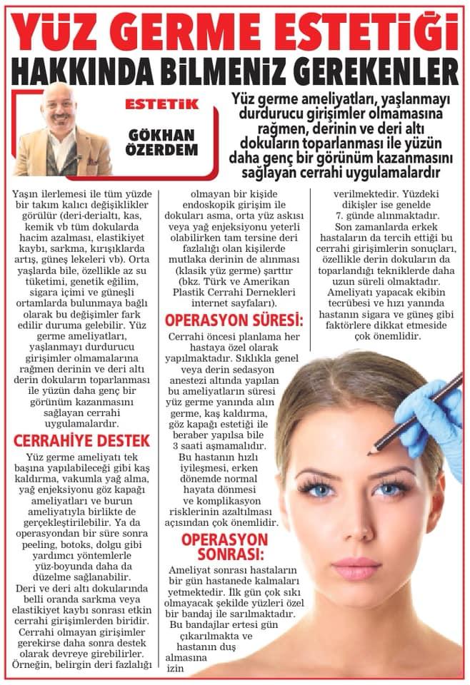 OP DR GÖKHAN ÖZERDEM ESTETİK VE PLASTİK CERRAH ANTALYA