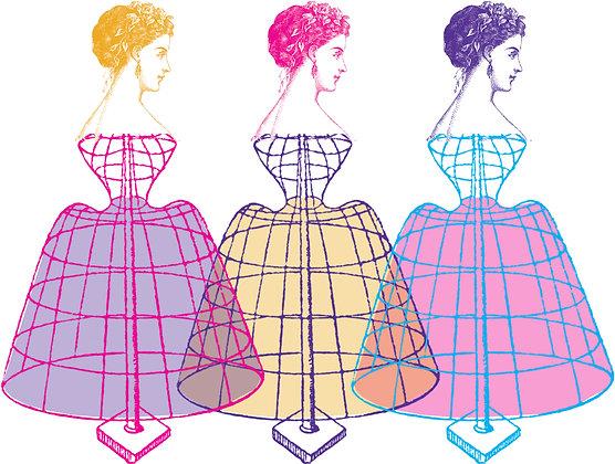 No. 113   Trio Of Rainbow Mannequins