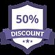 50% Discount Purple