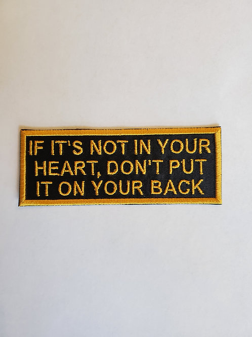 If it's not in your heart patch