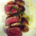 Filet Mignon, Romesco, Brussels Sprouts, Marcona Almonds, Charred Scallion