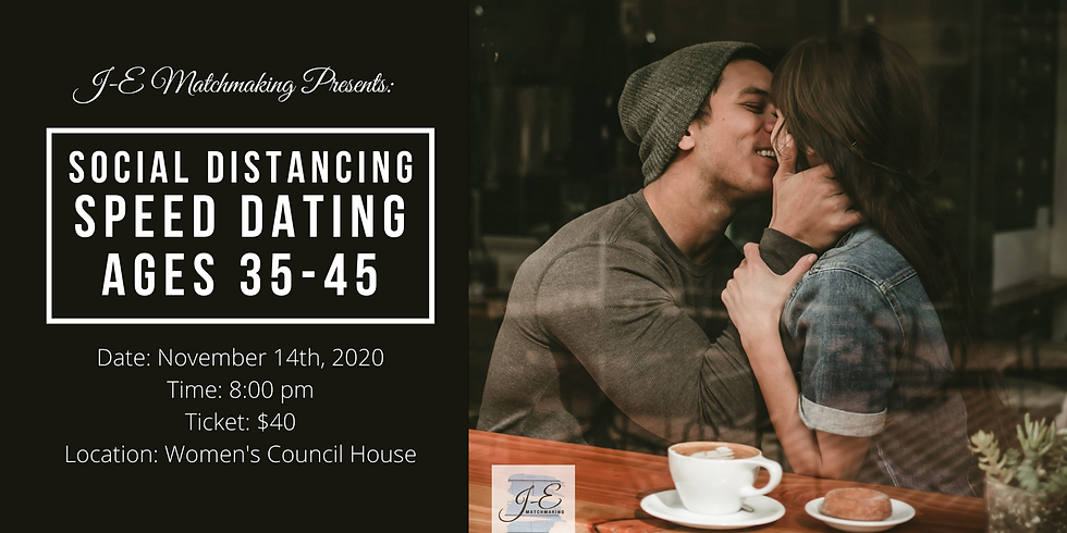 Social Distancing Speed Dating - Ages 35-45