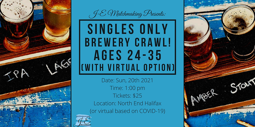 Brewery Crawl - Ages 24 - 35 - Singles Only! (w/ Virtual Option)