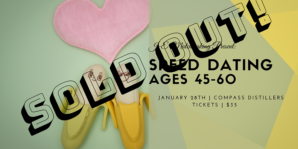 Speed Dating - Ages 45-60 - SOLD OUT