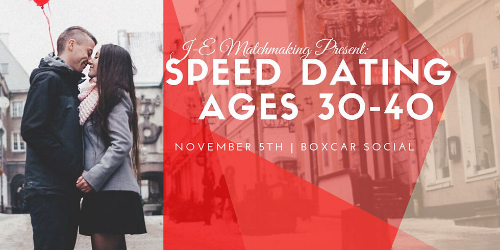 Speed Dating - Ages 30-40
