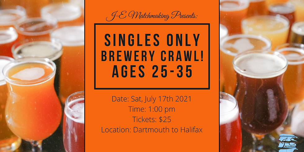 Brewery Crawl - Ages 25 - 35 - Singles Only!