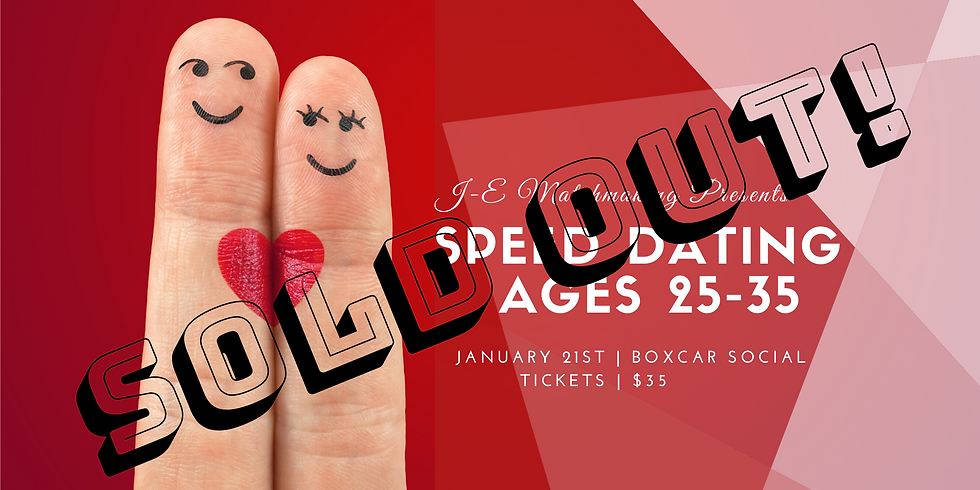 Speed Dating - Ages 25 - 35 - SOLD OUT!