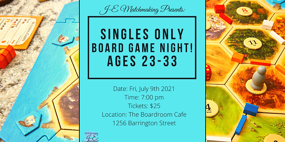 Board Game Night Ages 23-33 - Singles Only!