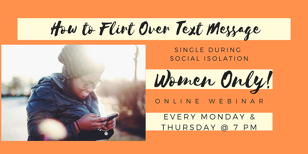 How to Flirt Over Text Message - Women Only!
