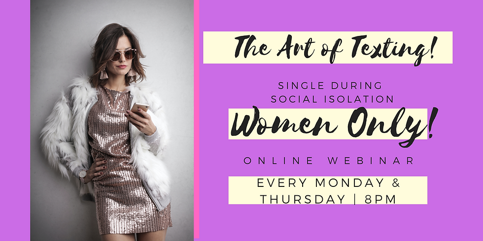 The Art of Texting - Webinar - Women Only!
