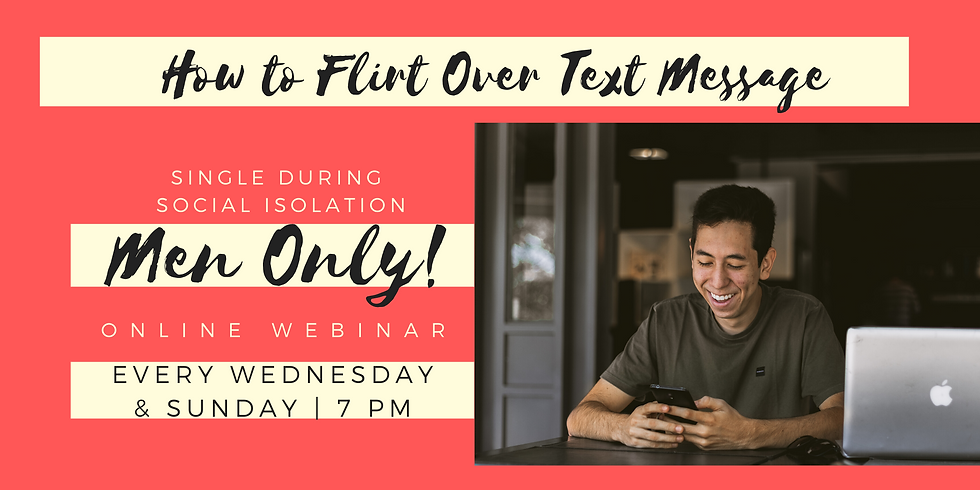 How to Flirt Over Text Message - Men Only!