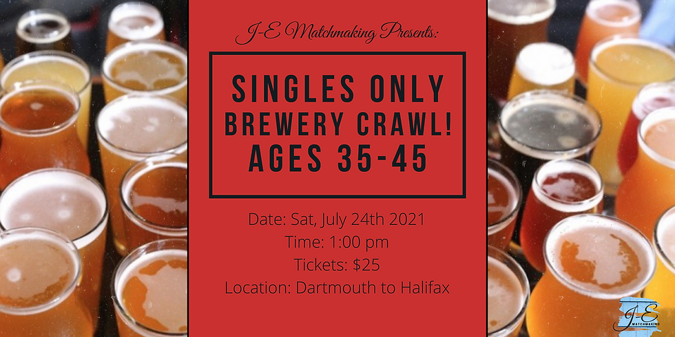 Brewery Crawl - Ages 35 - 45 - Singles Only!