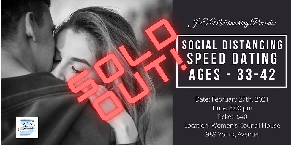 Social Distance Speed Dating - Ages 33-42
