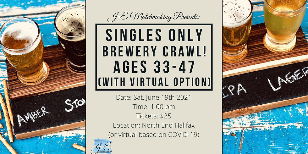 Brewery Crawl - Ages 33 - 47 - Singles Only! (w/ Virtual Option)