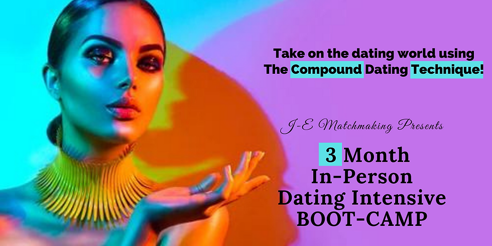 3 Month In-Person Dating Intensive Boot-Camp!