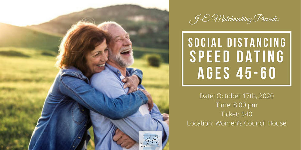 Social Distance Speed Dating - Ages 45-60