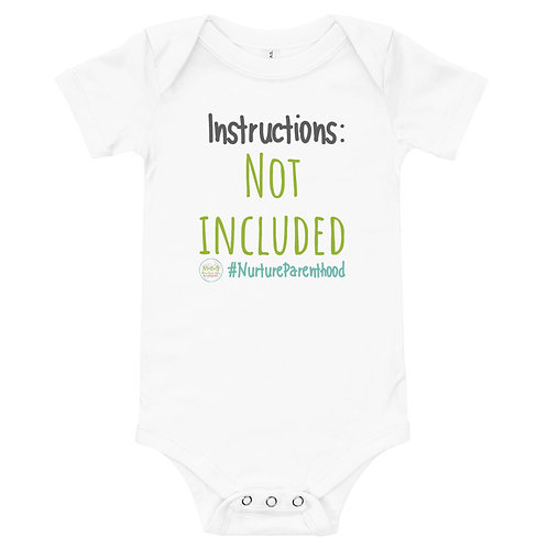 Instructions Not lncluded Onsie