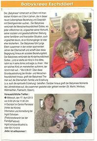 Babykrees Eschduerf bei esch-sur-sure.lu