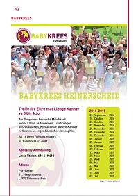 Babykrees Heinerscheid Hachiville Eschduerf Lintgen