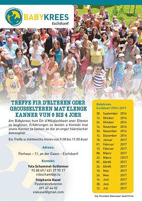 Flyer Eschdorf 2015-2016