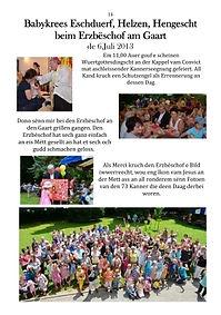 Babykrees Bischof Heinerscheid Hachiville Eschduerf Lintgen