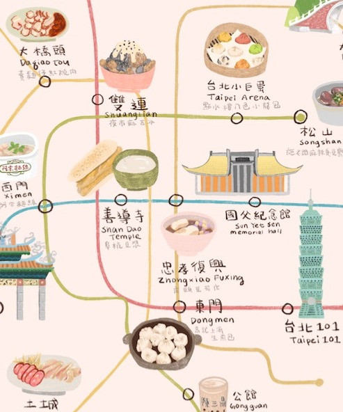 Taipei Food Map