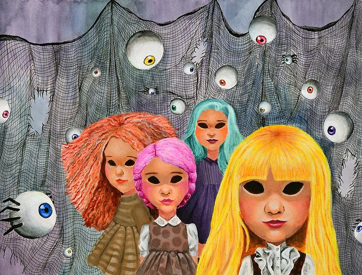 creepy, art, illustratin, halloween