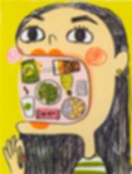 eat, illustration