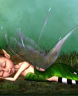 image of a sleeping fairy