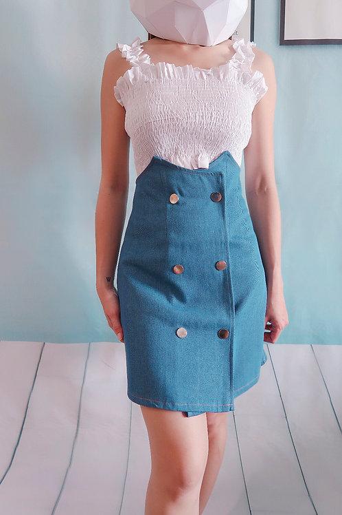 Jeans High Waisted Skirt