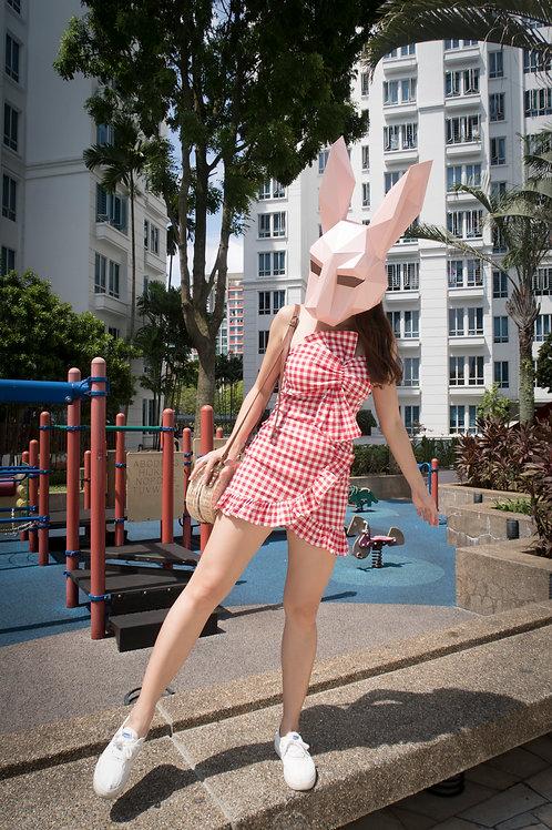浪漫格子套装 Red Checked Dress (2pcs)