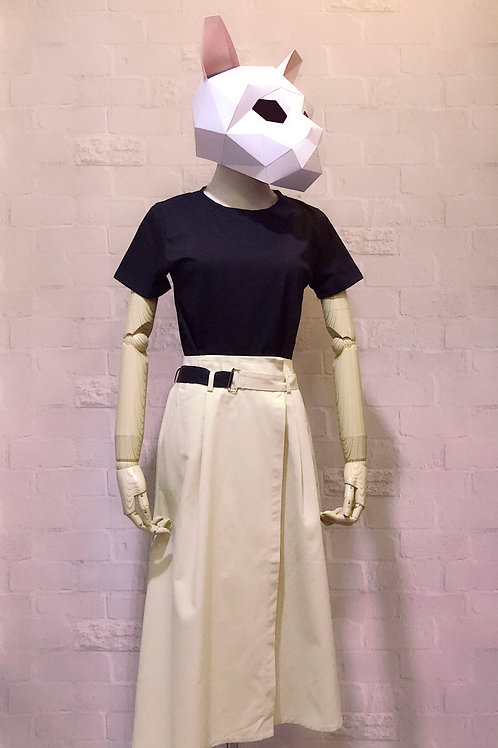 气质精品女套装 T-shirt with wrapover twill skirt