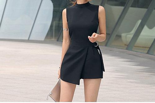 黑色不规则连体裤 Style Romper in Black