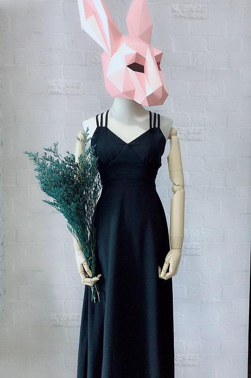 飘逸交叉背晚装连身裙  Cross Back Evening Dress