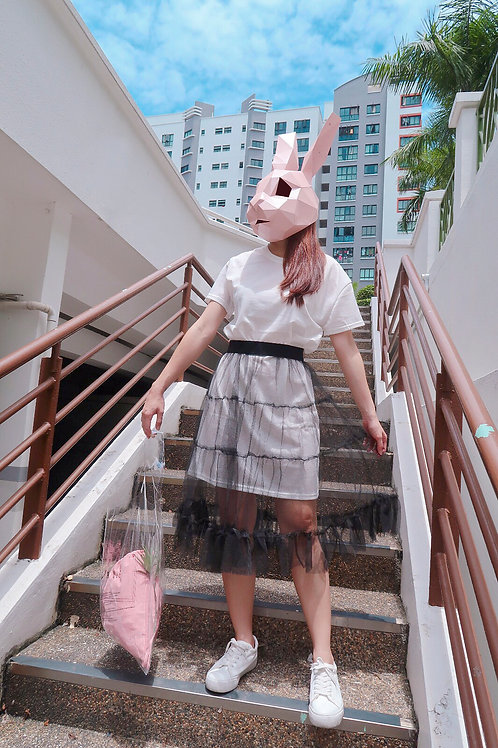 T 恤 + 纱裙Over-sized T with Organza Skirt