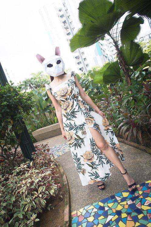 波西米亚碎花连衣裙 Bohemia Floral Long Skirt