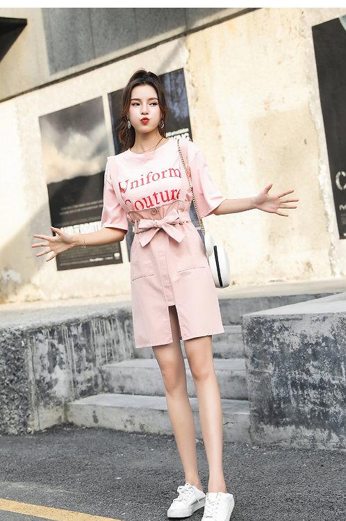 少女心粉色裙子时尚套装 Lady In Pink Set Dress