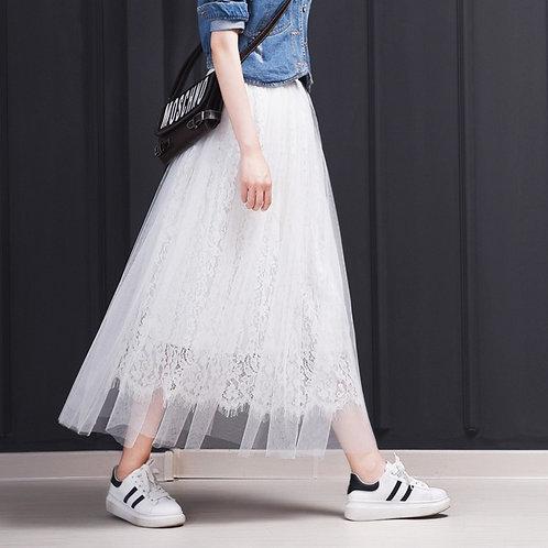 梦幻3层蕾丝纱裙