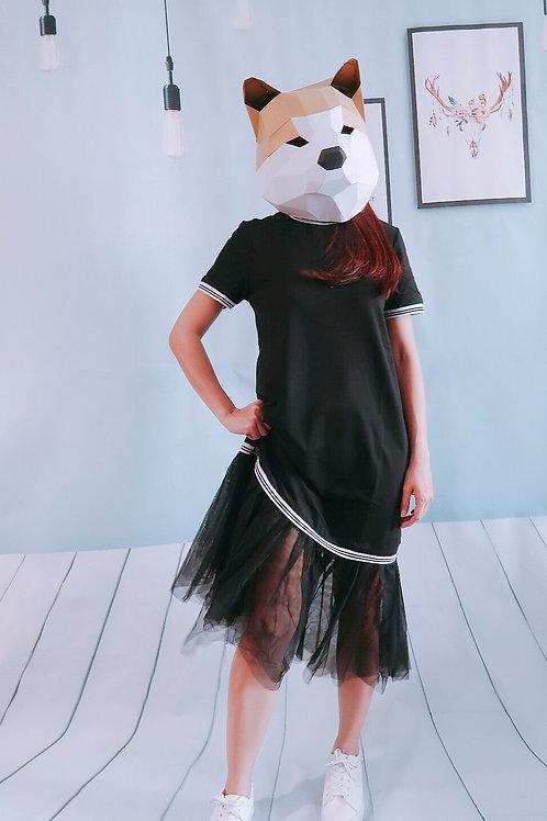 黑色鱼尾长裙