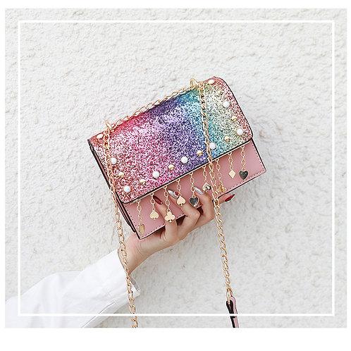 Glitter Unicorn Color Sling Bag