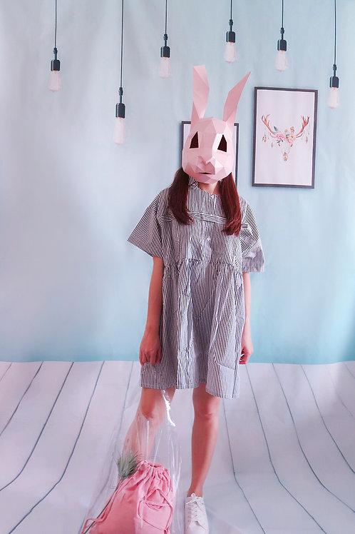 线条松款裙 Stripped Over-sized Dress