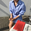 Thumbnail: 纽扣别致系法衬衫式连衣裙女