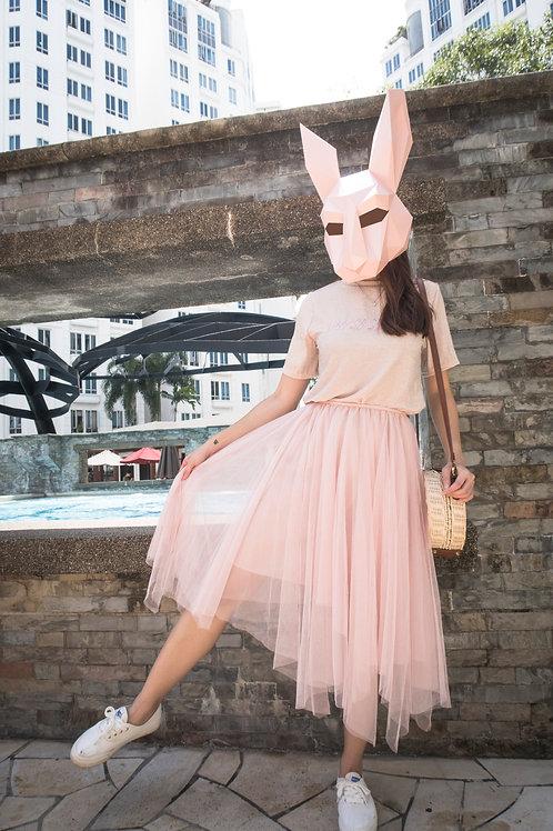 短袖T恤+半身网纱连衣裙 Gilter T + Organza Skirt