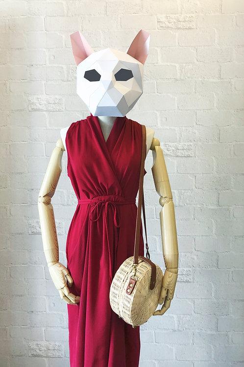 红色雪纺裙 Red Chiffon Dress